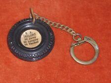 Porte-clé Keychain Pneu Boussole cassée SA LECLERC 54 JARNY 54 LONGWY 55 VERDUN