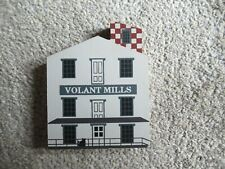 Cat's Meow Village 1986 Volant Mills Fall Series Retired Shelf Sitter