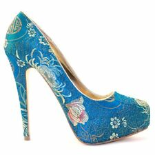 Atmosphere Women's Heels in Floral Pattern
