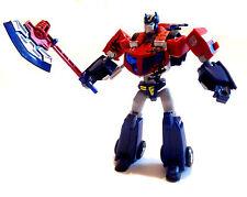 Transformers bataille endommagé jouet optimus prime action figure complet