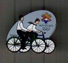 LDS MISSIONARY 2002 OLYMPIC LAPEL PIN UTAH MORMON BICYCLE  SALT LAKE CITY  22