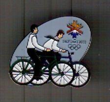 LDS MISSIONARY 2002 OLYMPIC LAPEL PIN UTAH MORMON BICYCLE  SALT LAKE CITY  222