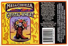Lizard Head Brewing dba Mesa Cerveza MESA CERVEZA CRYSTAL WHEAT label CO 12oz