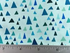 In the Bloom Triangle Tree Robert Kaufman AVW-15253 81 Turquoise - Cotton Fabric