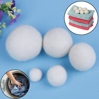 6-Pack Wool Dryer Balls Natural Fabric Virgin Reusable Softener Laundry _7