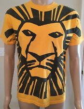 VINTAGE The Lion King Broadway Shirt M Disney ALL OVER PRINT YELLOW 90'S