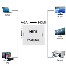 VGA To HDMI Converter Adapter 1080P HD With Audio Cable For HDTV PC Laptop mini
