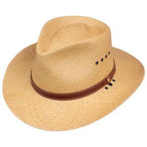 Mens | Womens | Genuine | Panama | Hat | Khaki | 3 Inch Brim | Made in USA |
