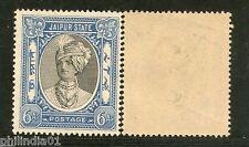 India Jaipur State 6As King Man Singh Postage Stamp SG 65 / Sc 42 Cat £13 MNH