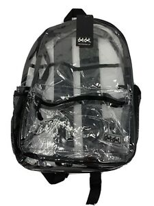 "Clear PVC Backpack See Through Transparent 17"" Waterproof Padded Straps"