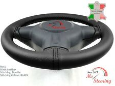 FOR BUICK ENCLAVE 15-17 BLACK LEATHER STEERING WHEEL COVER, CHOSEN COLOURS 2 STI