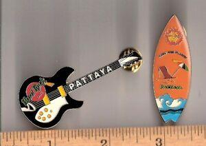Pattaya Hard Rock Cafe black guitar & surfboard pins