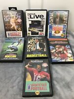 SEGA Genesis Game Lot Of 7 Sports Games. Great Condition Tested All With Case