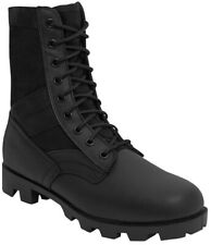 military style jungle boots black leather nylon upper panama sole rothco 5081