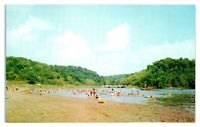 1950s/60s Beach Area, Versailles State Park, Versailles, IN Postcard *6J10