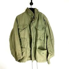 Vintage US Military Field Jacket Cold Weather 80s USA Coat Large Regular