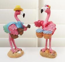 2 Musical Flamingos Statues Figurines Indoor Ornament* *17cm