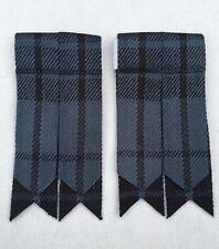 Men's Kilt Sock Flashes Grey Watch Tartan/Scottish Highland Kilt Hose Flashes