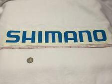 "SHIMANO LARGE 12"" DECAL Official window decal tackle box *** fishing Rod Reel"