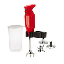 Bamix Mono Hand Held Blender Food Mixer Processor, 160W, Red