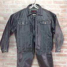 FUBU Waxed Denim Jeans & Jacket Suit Mens Size XL 38X30  HipHop 90s VTG Purple