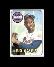1969 TOPPS #100 HANK AARON BRAVES EX-MT+ to NM