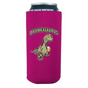 Drunkasaurus 16 oz Neoprene Can Coolie, T Rex, Dinosaur