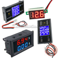 Voltage Current Power Meter DC 50V 5A 100V 10A LCD Digital Voltmeter Ammeter