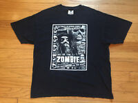 VINTAGE ROB ZOMBIE 1990's CALL OF THE ZOMBIE LIVING DEAD GIRL T-SHIRT MEN'S XL!