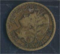 Togo 2 1924 sehr schön Aluminium-Bronze 1924 1 Franc Laureate (8977184