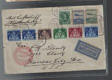 1936 Germany Hindenburg Zeppelin Cover to USA