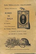 PROGRAMME SOIREE DE GALA MEDAILLES MILITAIRES JEAN KERHOR 1925