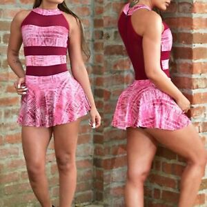 Colombian Brazilian Women's Tennis Dress Skort Microfiber S M Gym Workout Yoga