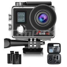 Campark ACT76 4K Sport Action Camera 16MP WiFi FHD 1080P Dual LCD Remote Control