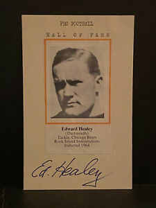 Signed Ed Healey Photo Cut HOF AUTOGRAPH Chicago Bears CERTIFIED AUTO