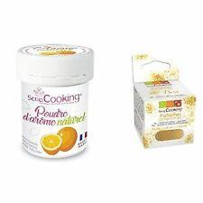 Natural flavour powder 15 g Orange + Edible golden glitter