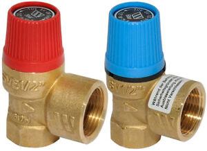 """Watts Sicherheitsventil 1/2"""" DN15 3 6 8 10 bar Überdruckventil Boiler Wasser"""