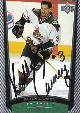 Keith Carney Coyotes Autograph Auto 98-99 Upper Deck #343 *26025