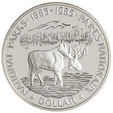Canada 1985 $1 National Parks Centennial Silver Dollar Proof with Box COA
