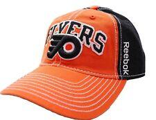 d300362752f Philadelphia Flyers Reebok EV77Z NHL Team Logo Adjustable Hockey Cap Dad Hat