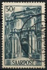 Saar 1948 SG#248, 50f Facade Of Mettlach Abbey Used #D14794
