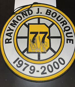 GENUINE HAND SIGNED AUTHENTIC RAY BOURQUE RETIRED NUMBER BANNER BRUINS HOF!!! $$