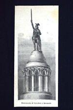 Monumento di Arminio a Detmold Incisione del 1875