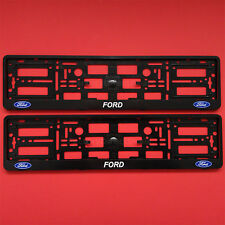 New Pair Ford Number Plate Surrounds Holder Frame For Any Ford Cars Pickup
