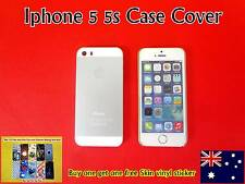iPhone 5 5S Case Cover Protector Matte Hard Back Silver(Free Skin vinyl Sticker)