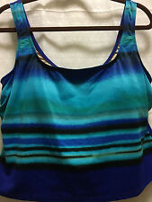 New Delta Burke Collections Womens Plus Size 22W Tankini Top $80 USA