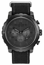 Citizen Eco-Drive Mens CA4098-06E Chronograph Grey Case Black Nylon Strap Watch