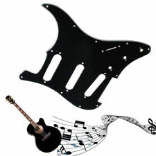 3 Ply Electric Guitar Pickguard Black Scratch Plate For Strat Stratocaster