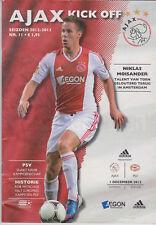 Programma / Programme Ajax Amsterdam v PSV Eindhoven 01-12-2012