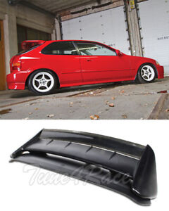 For 96-00 Honda Civic Hatch SEEKER V2 Style CARBON FIBER Rear Roof Wing Spoiler